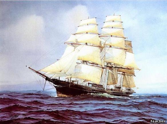 Рисунки акварелью кораблей